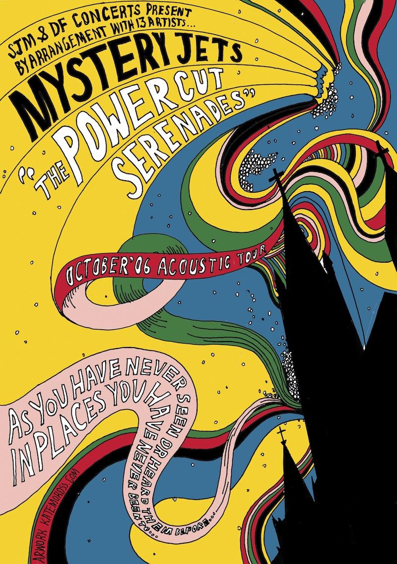 Poster design handmade - By Kate Moross