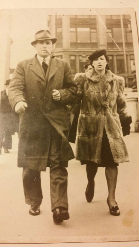 Author's grandparents, John Hayes and Marie Claire Delaney (1943)