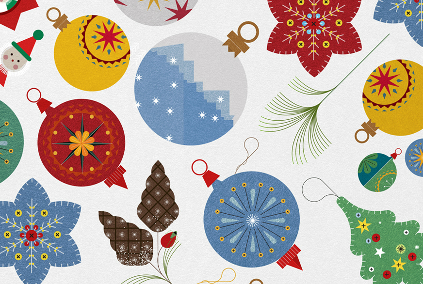 Christmas Illustrations.The 12 Illustrations Of Christmas