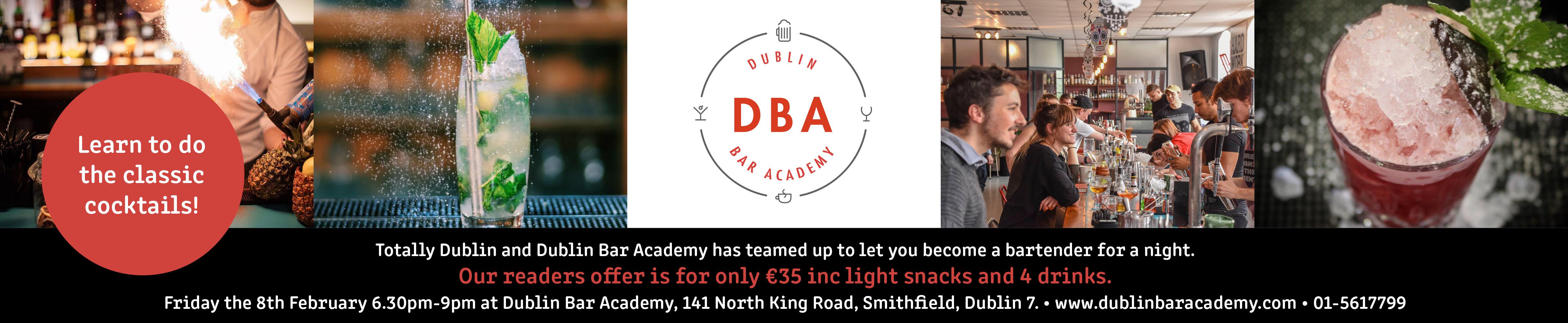DBA+TD Become a bartender banner