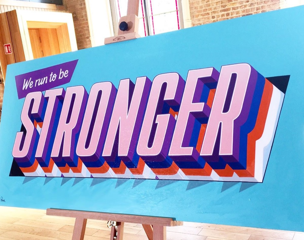 """d9b078f4961cb ... the ethos behind it, it's all about colouring outside the lines, making  mistakes, being 'imperfect' and celebrating it"""" – Vanessa Power, Sign  Painter."""